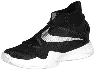 Nike Men's Zoom Hyperrev 2016 TB Shoes-Black/Metallic Silver/White-12