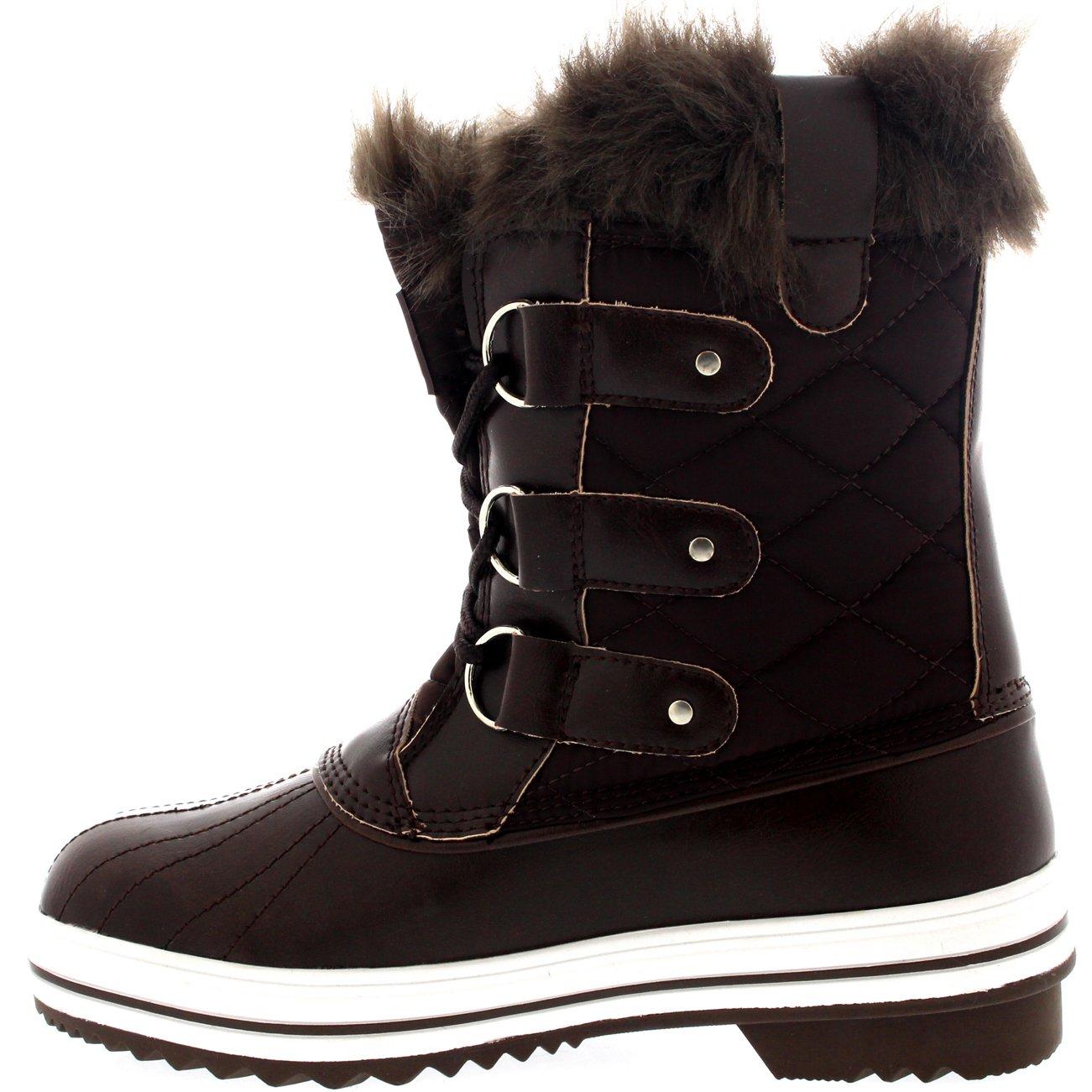 9cb165535e39bc Damen Schnee Stiefel Nylon Short Schnee Pelz Regen Wasserdicht Stiefel   Amazon.de  Schuhe   Handtaschen