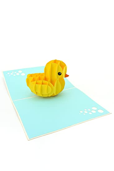 Amazon.com: Ducky de goma amarillo pato Pop-Up tarjeta de ...