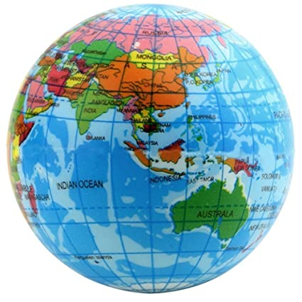 educational toy world atlas geography map earth globe stress relief bouncy foam ball for kids children