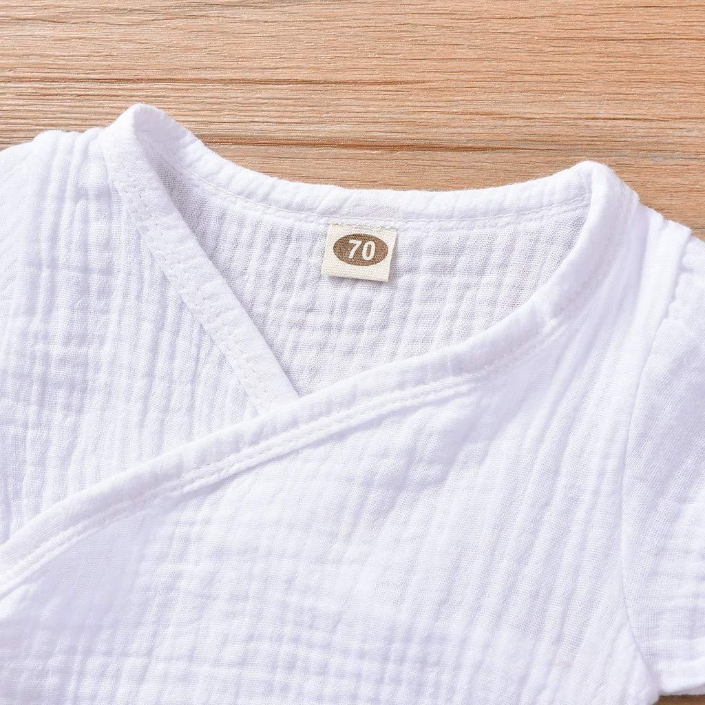 Chinese Casual Pure Tracksuit Pajamas for Girl Boy Haokaini Newborn Baby Cotton Linen Kimono Romper