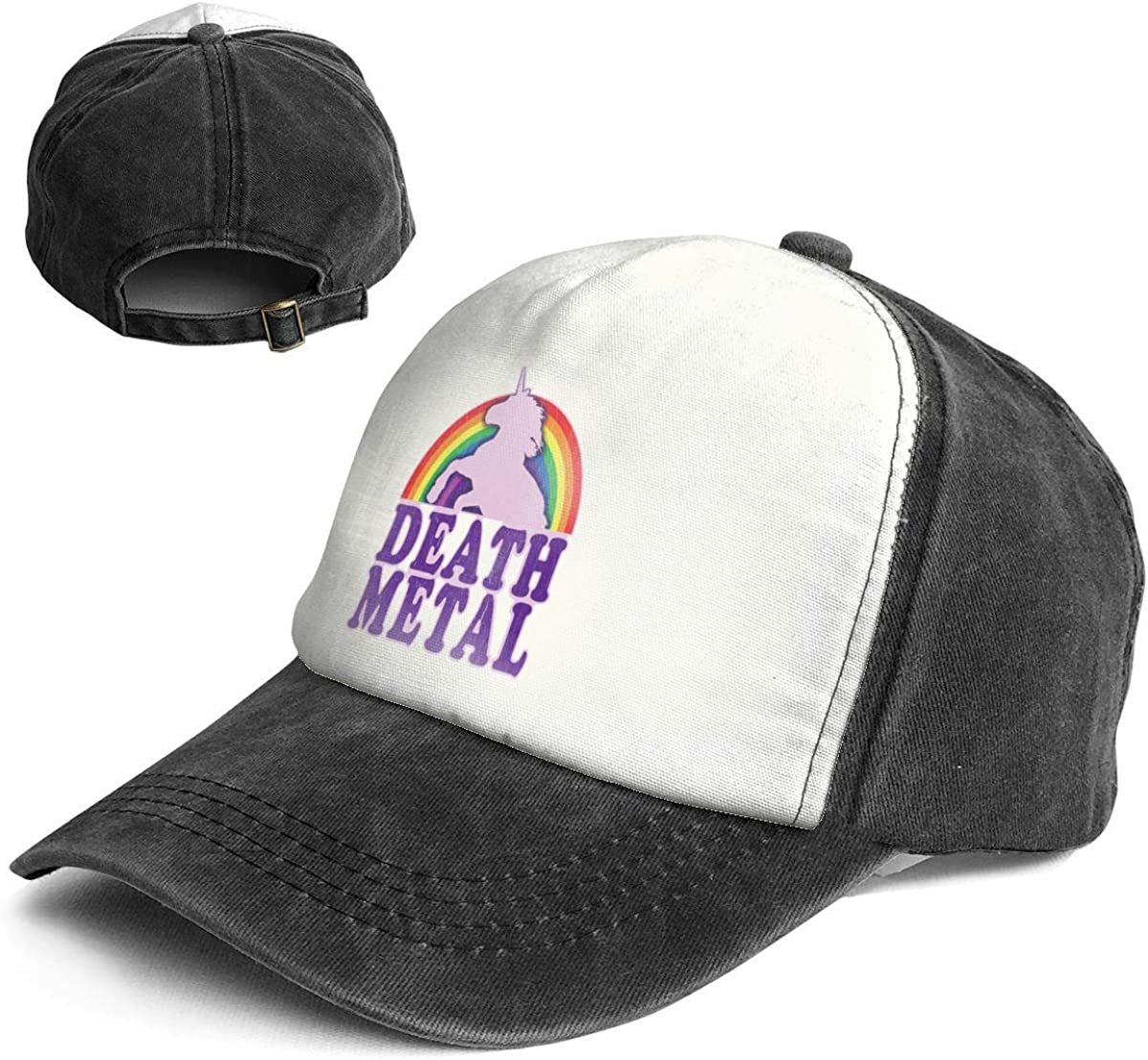 Fashion Solid Color Rainbow Love Funny Logo Head Cap for Unisex White One Size