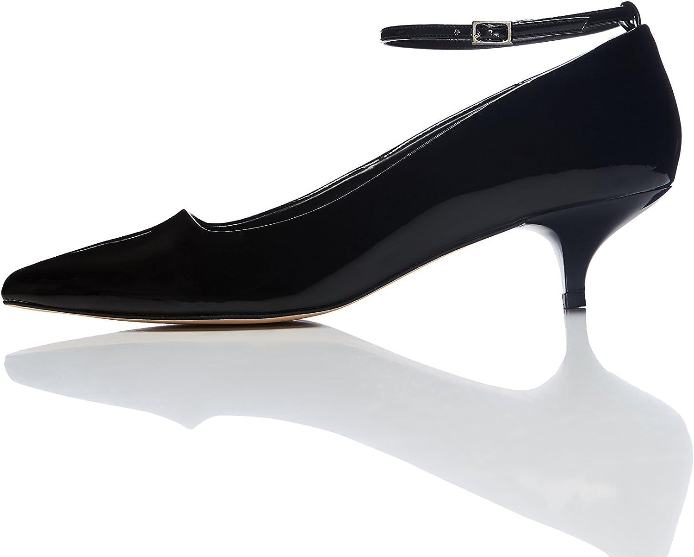 Marca Amazon - find. Zapatos de Charol con Puntera para Mujer