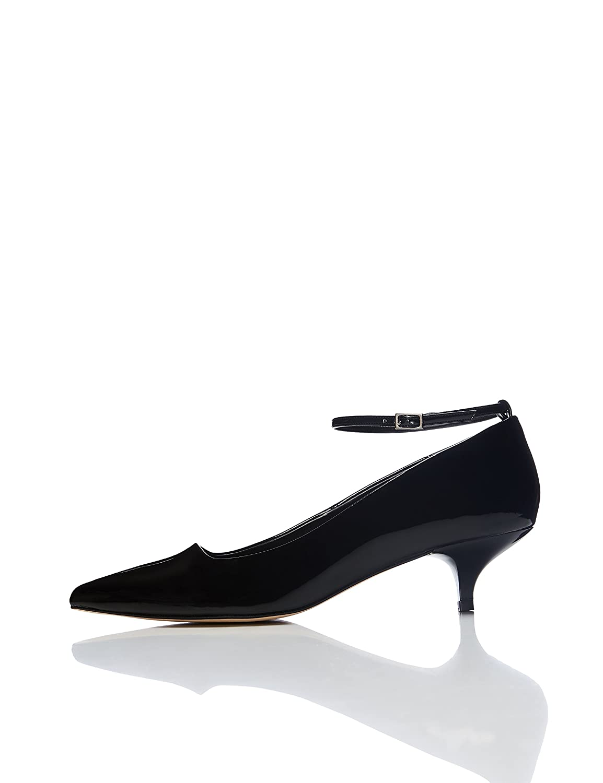 TALLA 37 EU. Marca Amazon - find. Zapatos de Charol con Puntera para Mujer