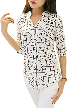 J B Fashion Women s Animal Print Regular fit (Shirt White Large ... 5bc10269c