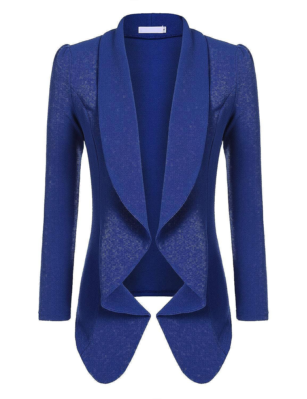 Beyove Women's 3 4/Long Sleeve Lightweight Open Front Cardigan Blazer Jacket BVH014497