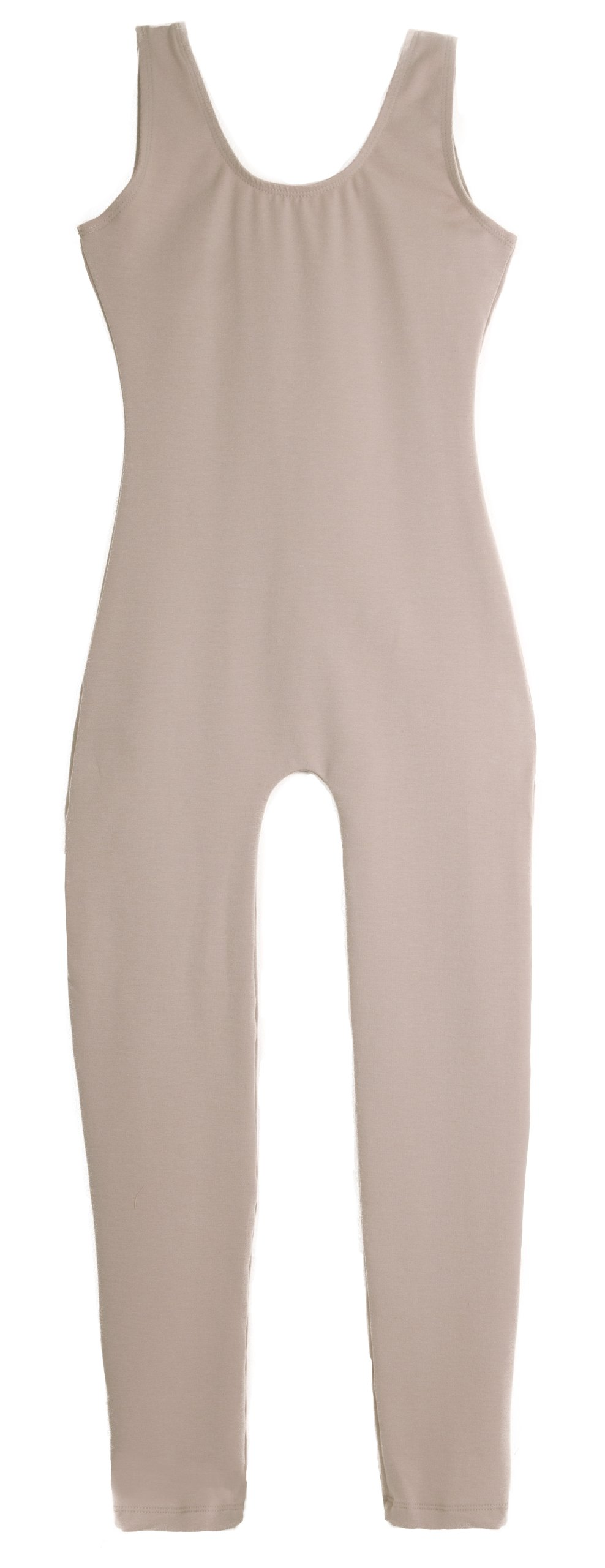 American Theater Dancewear Adult's Cotton/Lycra Tank Unitard (Nude M) by American Theater Dancewear