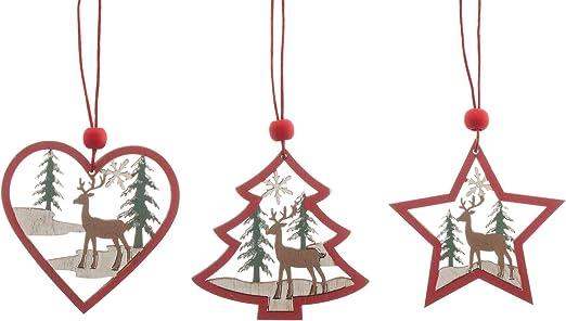 9X DIY Heart Deer Snowflake Handmade Frame Ornament Craft Acrylic Making Jewelry