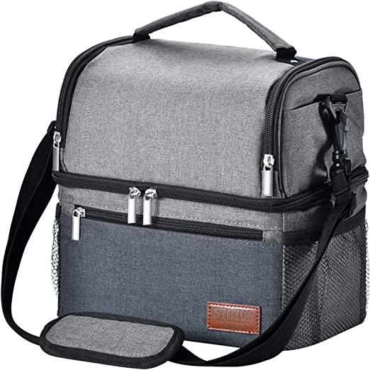 Leakproof Insulated Cooler Bags Box Oxford Nylon/&Strap Lunch Bag for Men Women
