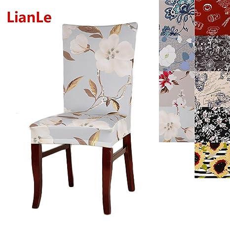 Lianle Stuhlhusse Stretch Stuhlhussen Fur Dining Chair Sitzbezuge Hochzeit Bankette Stuhl Abdeckung Dekorative Stuhluberzuge