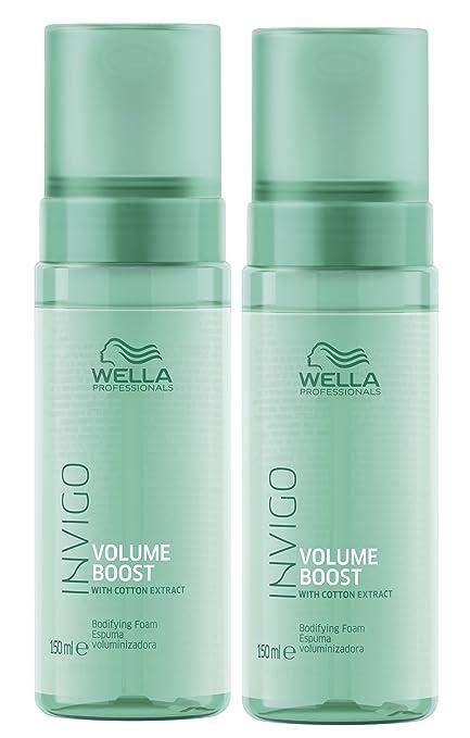 2 Volume Boost Volumen Espuma invigo WELLA Professionals con extracto de algodón por 150 ml=