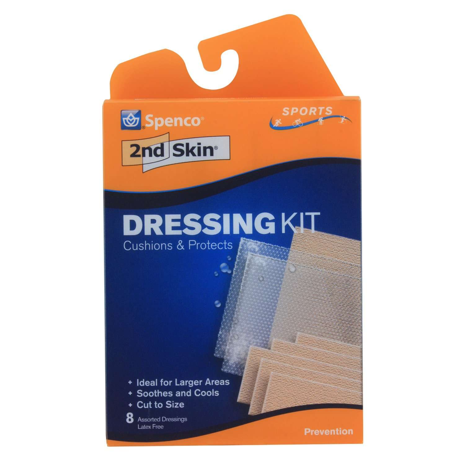 Spenco 2nd Skin Dressing Kit Bandages for Blister Protection, Sports, 8-Count