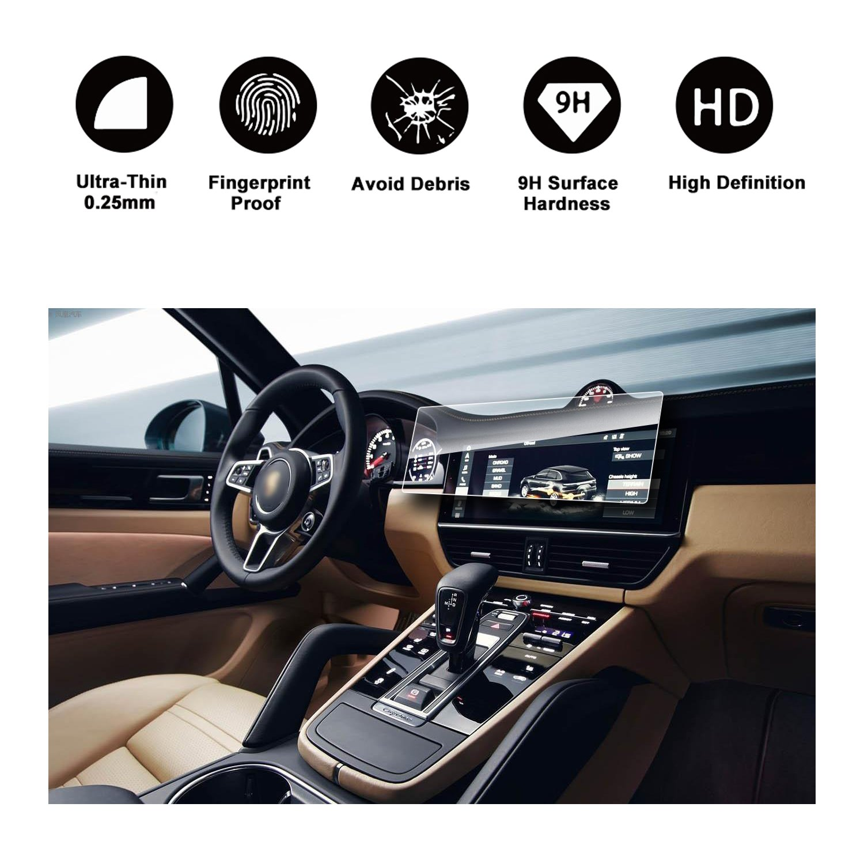RUIYA Protector de Pantalla de Vidrio Templado para 2018-2019 Porsche Cayenne Sistema de navegación,Crystal Clear HD película,Resistente a los arañazos[12,3 ...