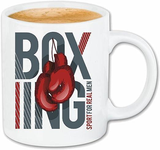 taza para café Boxeo del club del boxeo Guantes de boxeo CAJA DE ROCKY STALLONE SPARRING BOXEADOR Caso duro de la cubierta Teléfono Cubiertas cubierta para el330 ml de cerámica en blanco: