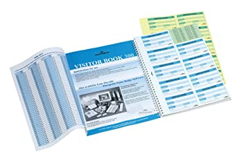 Durable 146600 Visitor Book 300 Refill, 300 Perforated 90 x 60 mm Visitor  Badge Inserts