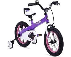 RoyalBaby Boys Girls Kids Bike Honey Buttons 3-9 Years Old 12 14 16 18 Inch Training Wheels Kickstand Red Blue Green Purple P