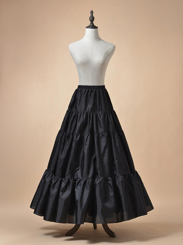 Victorian Lingerie History – Corset, Chemise, Petticoats AW Womens A-line Petticoat Skirt Floor Length Wedding Petticoat Slip Hoopless Elastic Crinoline Underskirt $14.99 AT vintagedancer.com