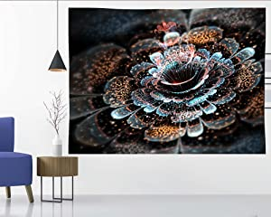 Aesthetic Mandala Tapestry Wall Hanging Bohemian wih Nature Gorgeous Spiritual Flowers Bloom for Living Room Bedroom College Dorm Home Decor Backdrop Small