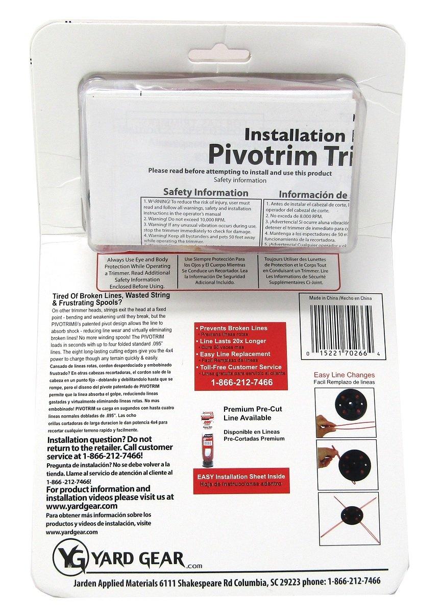 Amazon.com: Rino Tuff Pivotrim, cabezal de desbrozadora para ...