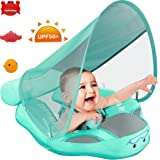 Preself 2020 Newest Baby Safety Solid Float with Stabilizer & UPF 50+ UV Sun Protection Canopy, Mambobaby Non-Inflatable…