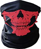 PRINTEMPS Breathable Seamless Tube Skull Face Mask, Windproof Dust-proof Motorcycle Face Mask, Half Face for Halloween Cosplay, Outdoor Cycling Hiking Skiing Camping