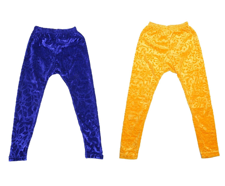 Indistar Kids Embossed Multicolor Leggings Combo Pack of 2