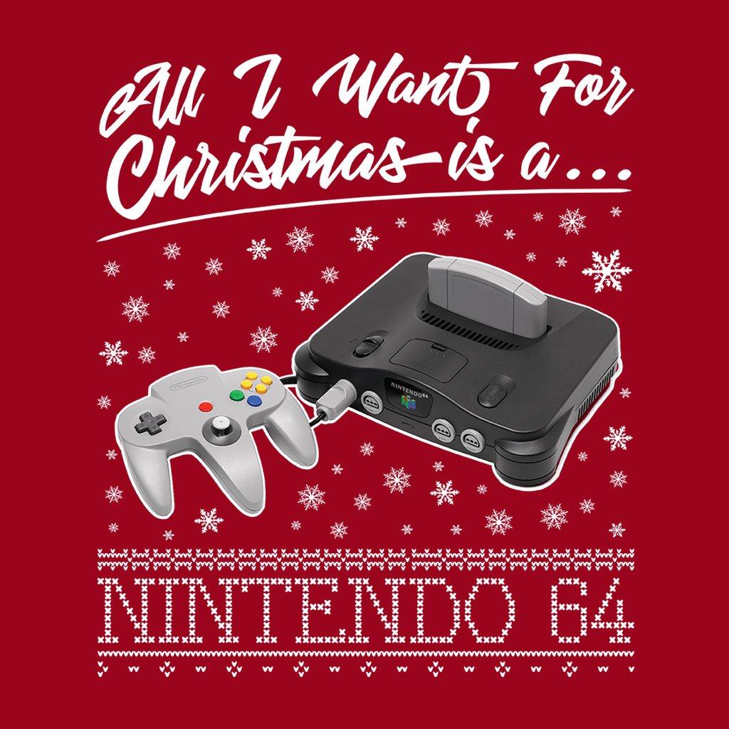 All I Want For Christmas Is A Nintendo 64 Men\'s Sweatshirt: Amazon ...