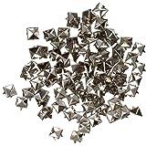 TOOGOO (R) 100X Apliques Remaches Plata 8mm Piramide Tachuelas Bolsa/Calzado/Guante