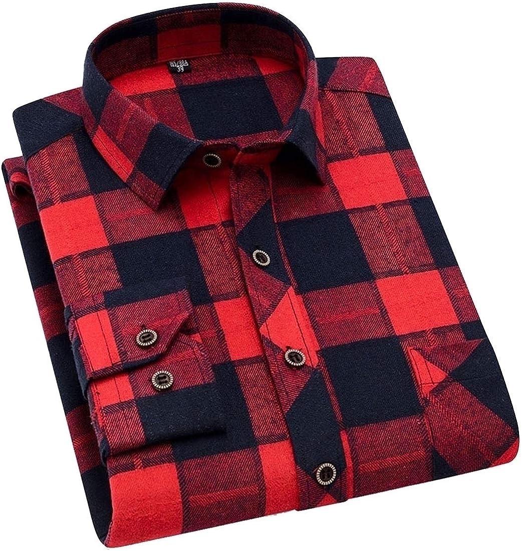 GenericMen Regular Fit Button Down Shirts Cotton Long Sleeve Shirts