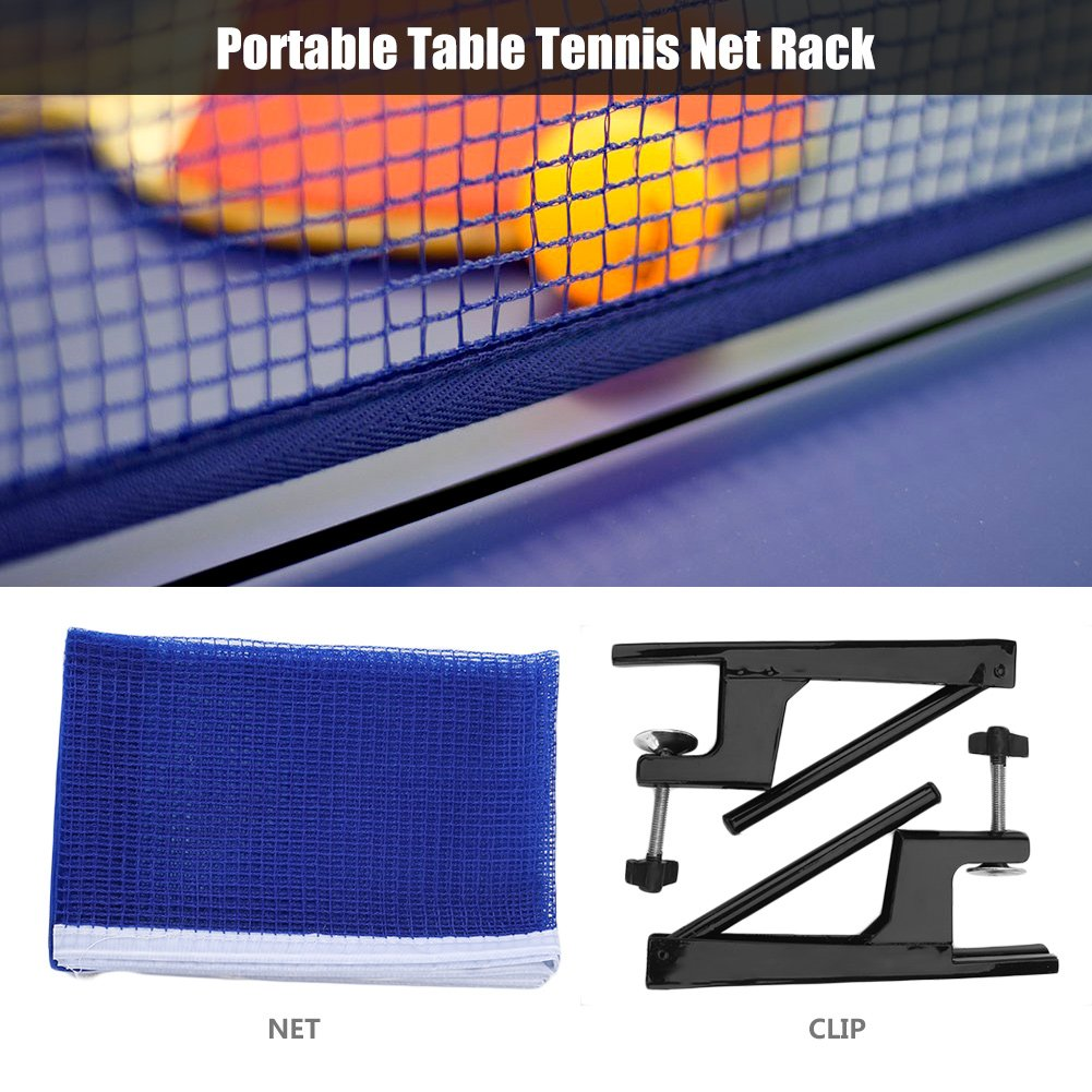 Premium Ping Pong Table Tennis Catcher Net - Portable Ball Catch Netting with Metal Clamp Posts Ping Pong Net Set Accessory for Indoor/Outdoor