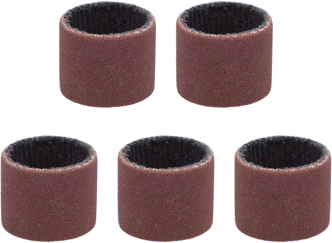 uxcell 1/2 inch x 1/2 inch Sanding Sleeves 600 Grits Sandpapers Band Drums 5 Pcs