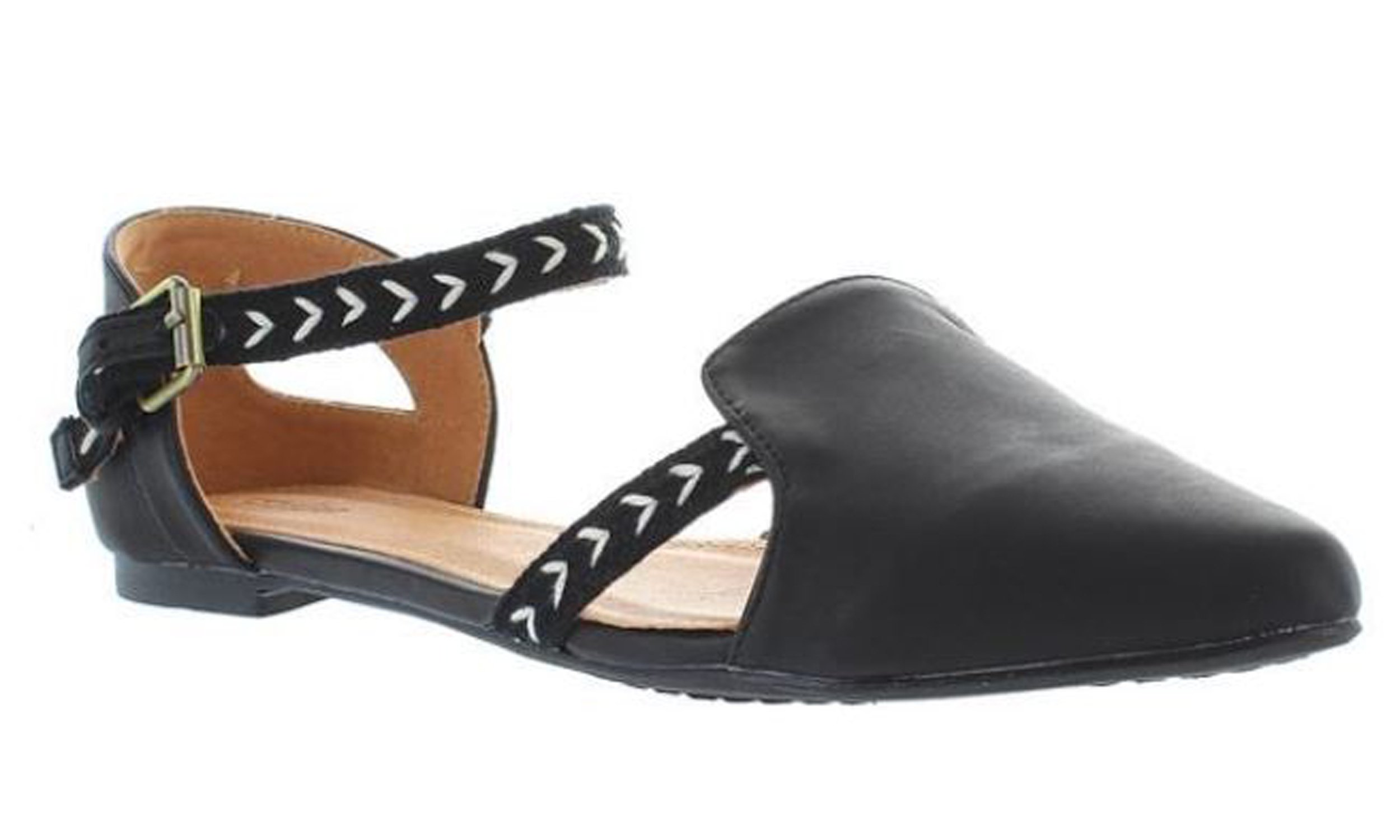 Extra Fine Sugar oz - Black/Tribal Print Mary Jane Flat - Size: 9 by Extra Fine Sugar (Image #1)