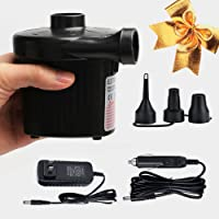 Mcrety inflatable pump AC/DC Quick-Fill Portable Air Pump 110-120 Volt Max Electric Air Pump for Inflatables Air Mattress Air Bed Swimming Ring Pool Floats