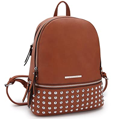 fe3b30d0015 Image Unavailable. Image not available for. Color  Dasein Casual Backpack  Purse School Bag Vegan Leather Shoulder Bag Designer Daypack Tote for  Womens Girls