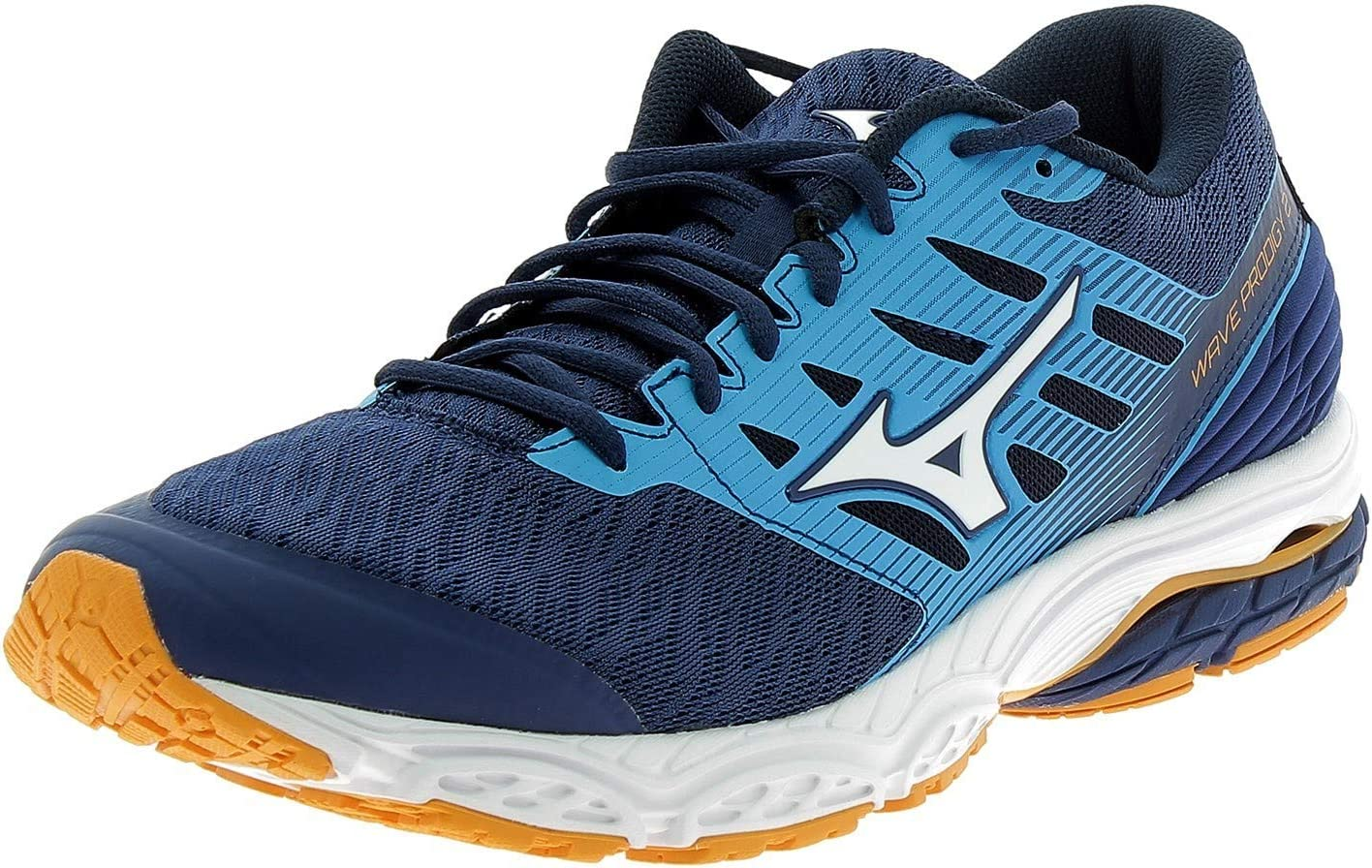 Mizuno Mens Wave Prodigy 2 Running Shoes Trainers Sneakers Blue Sports