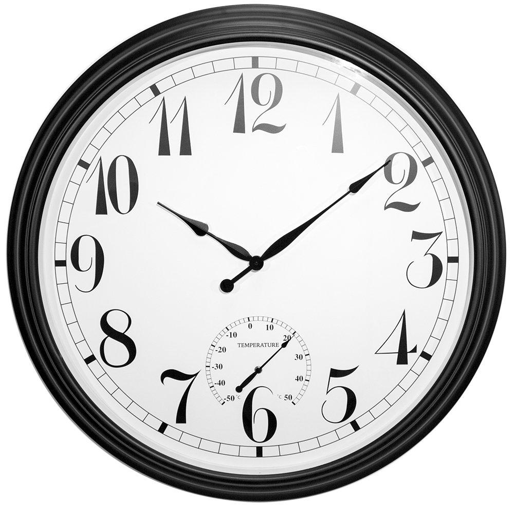 Primrose Big Time Outdoor Garden Clock - Black - 90cm/35.4in
