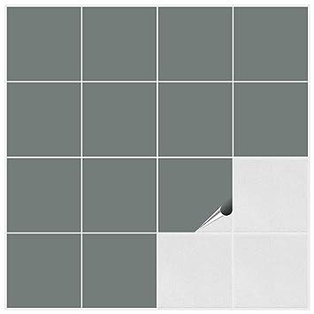 FoLIESEN Fliesenaufkleber Für Bad Und Küche X Cm Grau Matt - Matte fliesen glänzend lackieren