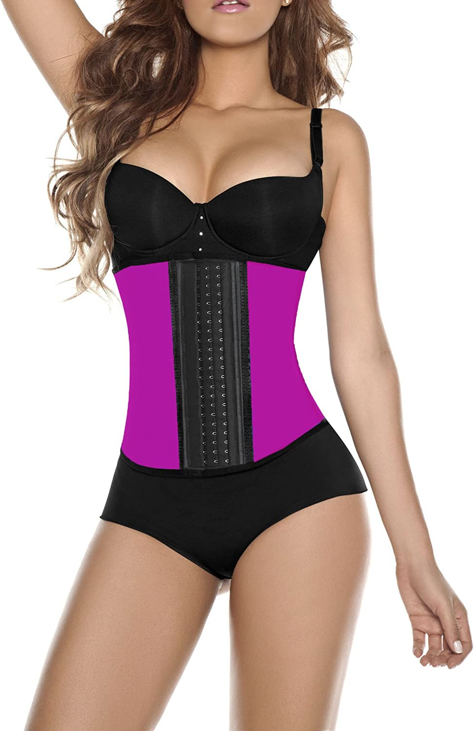 X-Large Hot Pink Max Compression Womens Neoprene and Spandex Workout Style Waist Cincher