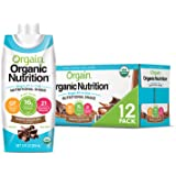 Orgain Organic Vegan Plant Based Nutritional Shake, Smooth Chocolate - Meal Replacement, 16g Protein, 21 Vitamins…