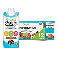 Orgain Organic Vegan Plant Based Nutritional Shake, Smooth Chocolate - Meal Replacement...