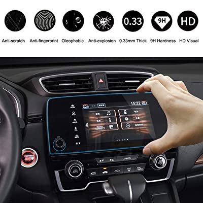 2020-2020 CRV EX EX-L Touring 7 Inch Car Navigation Screen Protector, HiMoliwa Scratch-Resistant Ultra HD in-Dash Clear Tempered Glass Screen 9H Hardness 0.33mm: GPS & Navigation