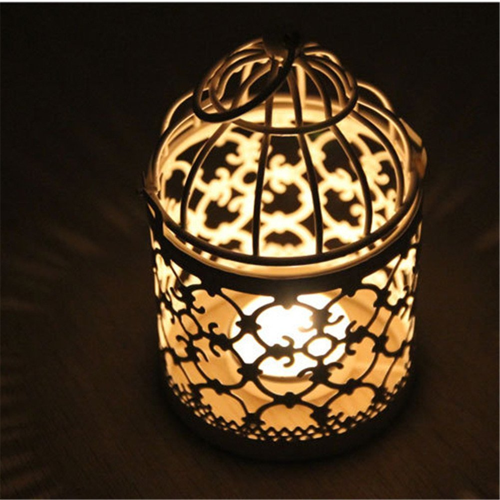 14 x 8/cm Leisial Rom/ántico candelabro de hierro calado de estilo Vintage Cl/ásico decoraci/ón europea