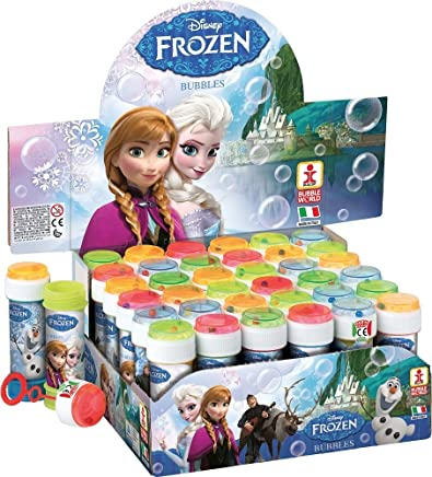 Fancy Me Box of 36 or 6 Bubble Pots - Boys Girls Disney Frozen Elsa Bubbles Party Loot Bag Stocking Fillers Garden Game Ideas (6 Pots, Frozen):  Toys & Games