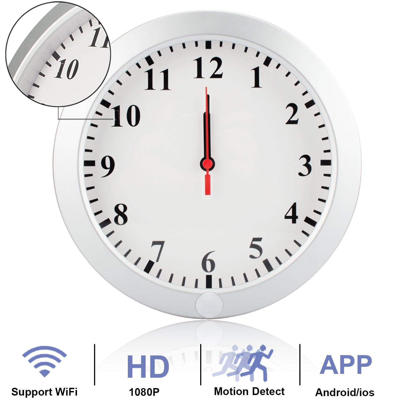 Hd 1080p wifi camera wall clock nanny cam wireless p2p ip this altavistaventures Choice Image