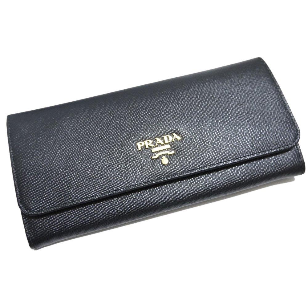 [プラダ] PRADA サフィアーノレザー 二つ折り長財布 1M1132 黒 PRADA  [並行輸入品] B078HGH84Z