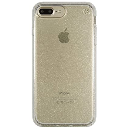 Speck Products Presidio Clear Glitter Cell Phone Case For Iphone 7 Plus Gold Glitterclear