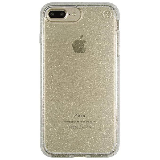 online store 875c9 5cd94 Speck Products Presidio Clear + Glitter Cell Phone Case for iPhone 7 Plus -  Gold Glitter/Clear