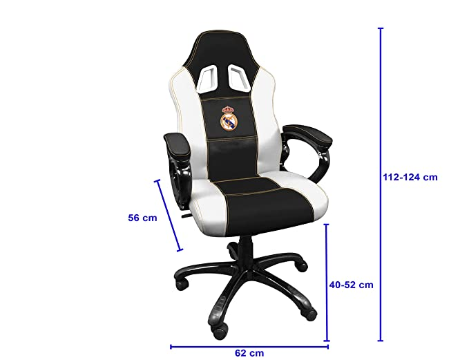 Real Madrid Silla gaming - Sillón gamer de oficina accesorio PS4, Xbox One, PC: nintendo switch: Amazon.es: Videojuegos
