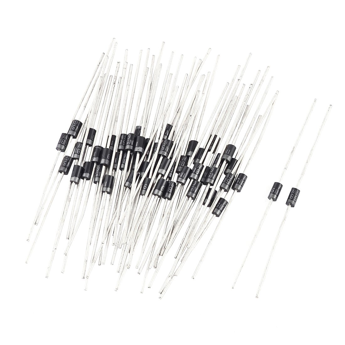 Schottky Diodes - SODIAL(R) 50 Pcs Axial Leaded IN5819 Rectifier Schottky Diodes 1A 80V