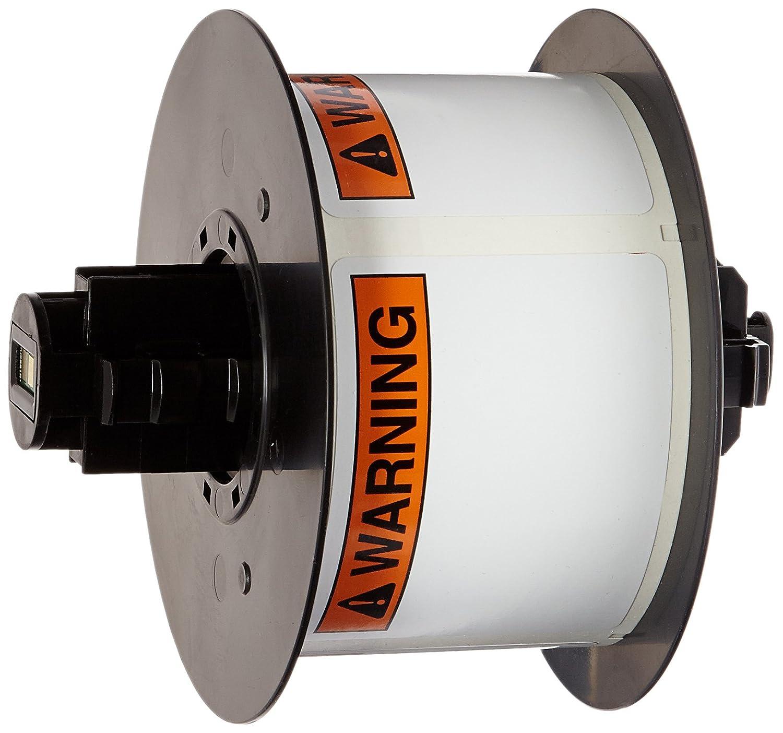 175 per Roll Black//Orange BBP31 Pre-Printed Pre-Cut Labels Tape with Sign Headers B-595 Indoor//Outdoor Vinyl Brady B30-25-595-ANSIWA 4 Height x 6 Width